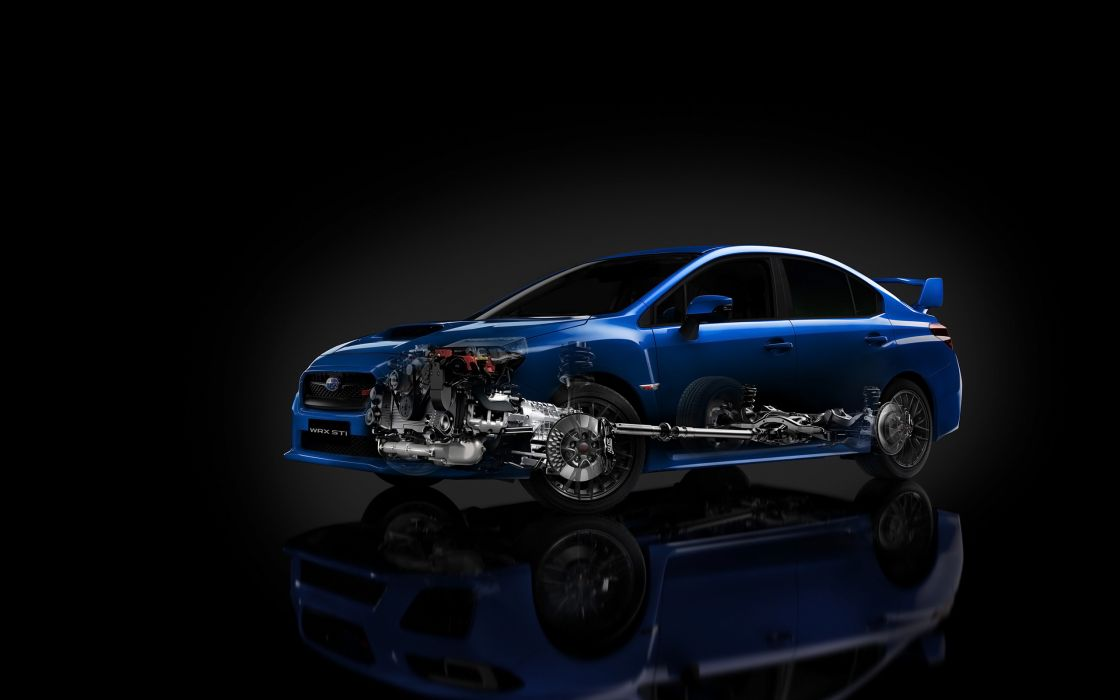 2015 Subaru WRX STi engine interior    g wallpaper