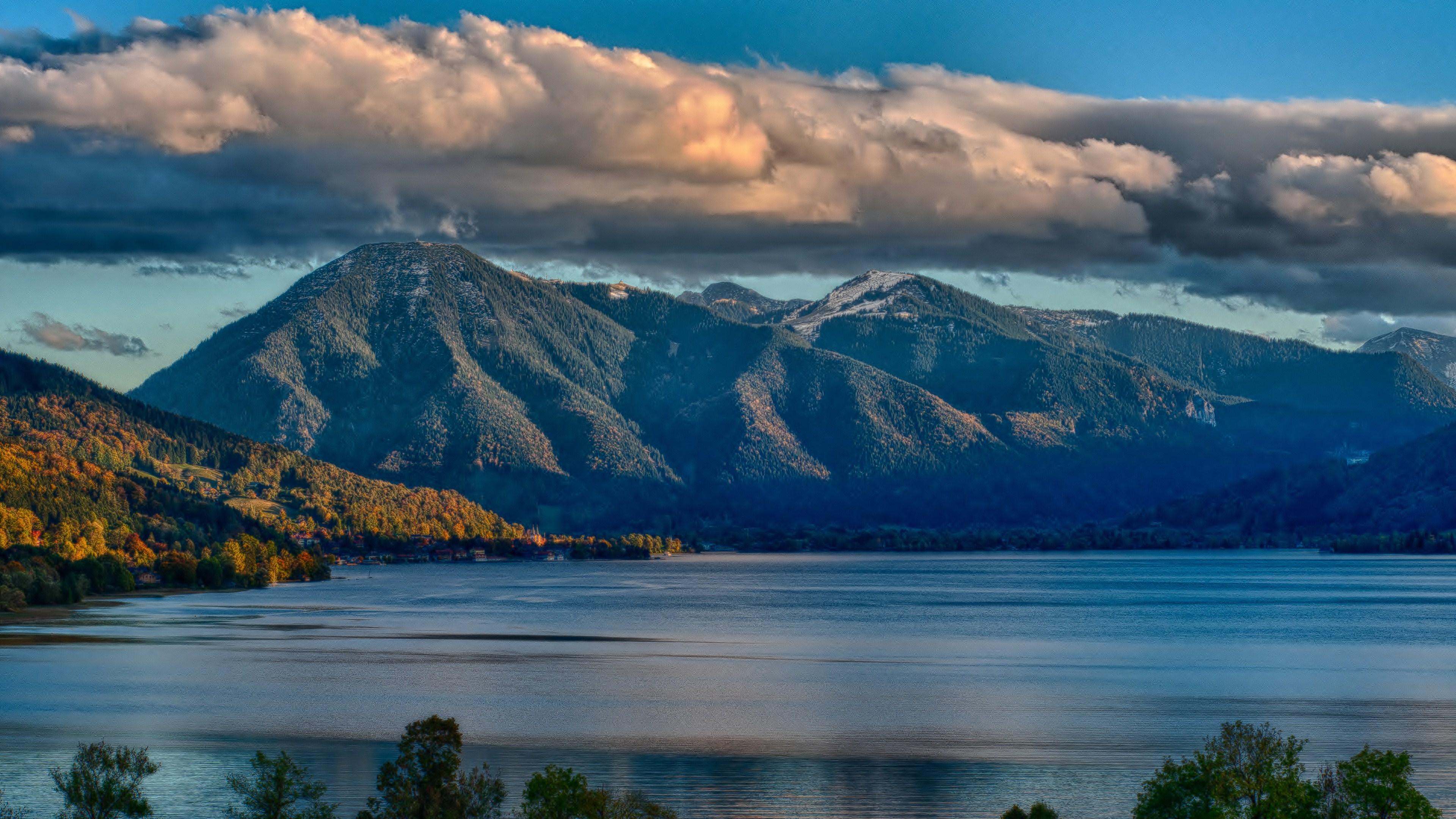 Nature Lake Landscape Reflection Fog Ultrahd 4k Wallpaper