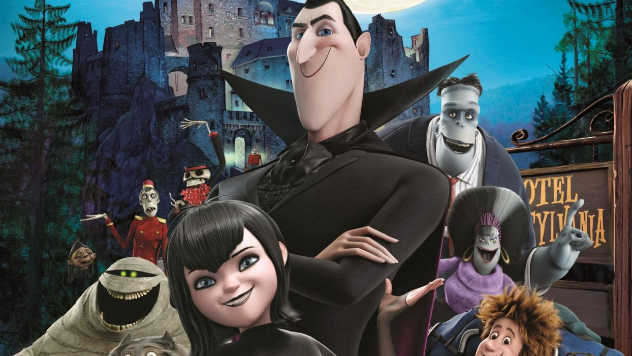 HOTEL TRANSYLVANIA animated fantasy comedy dark halloween monster (5) wallpaper