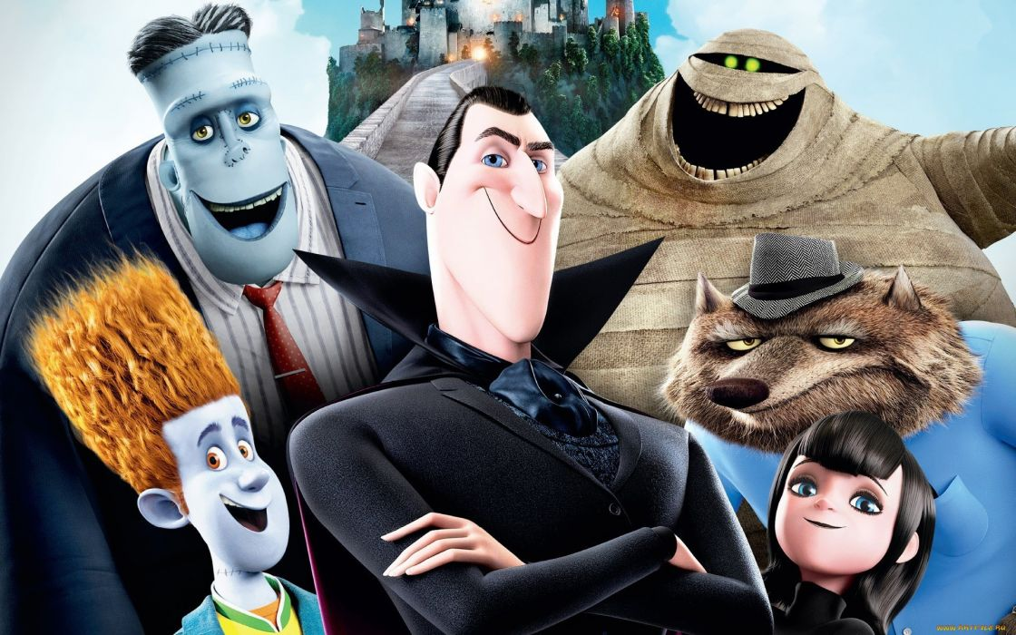 HOTEL TRANSYLVANIA animated fantasy comedy dark halloween monster (29) wallpaper