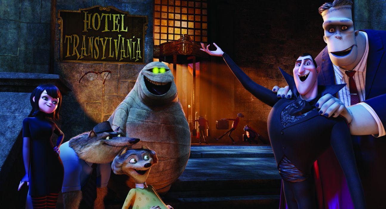 HOTEL TRANSYLVANIA animated fantasy comedy dark halloween monster (33) wallpaper