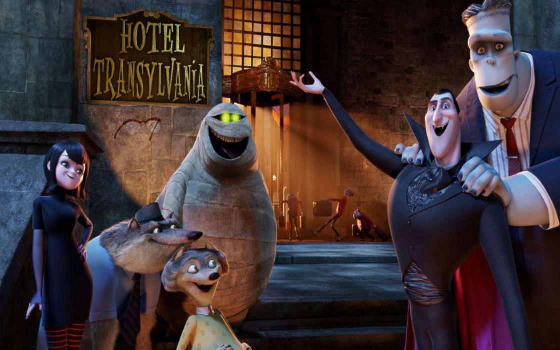 HOTEL TRANSYLVANIA animated fantasy comedy dark halloween monster (38) wallpaper
