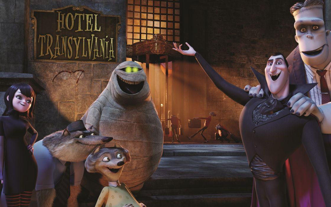 HOTEL TRANSYLVANIA animated fantasy comedy dark halloween monster (46) wallpaper