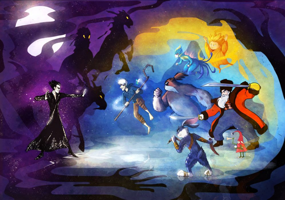 RISE OF THE GUARDIANS animation adventure family (5) wallpaper