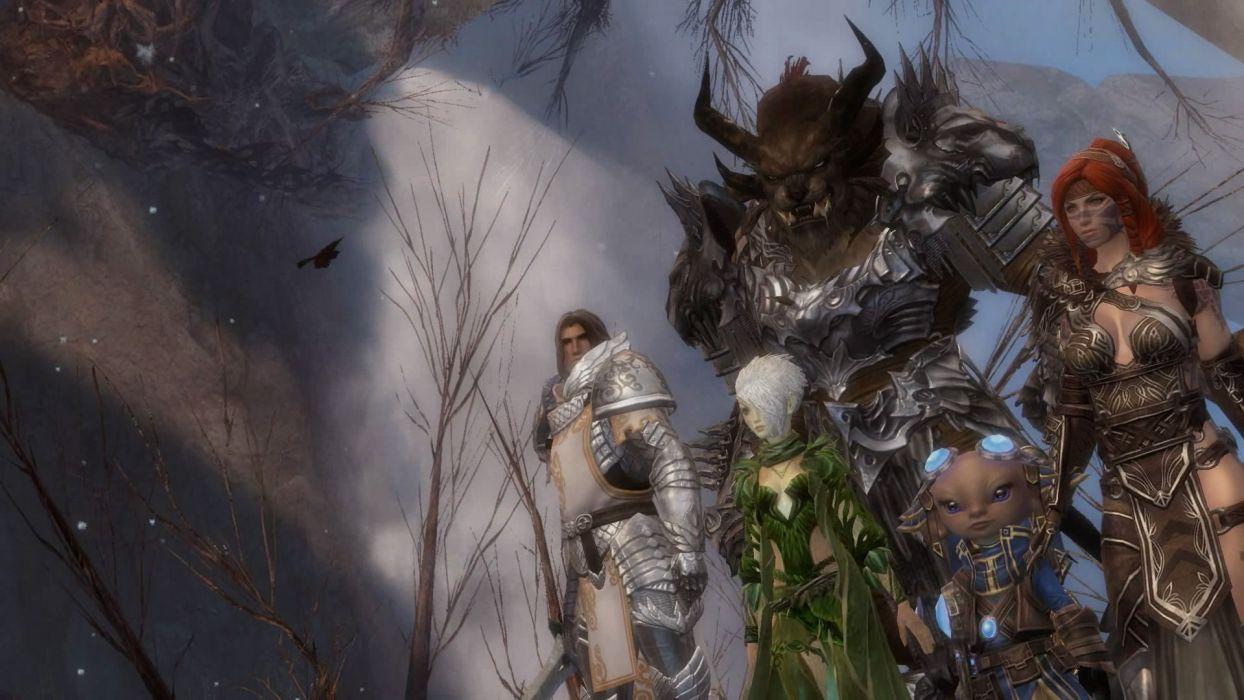 Guild Wars fantasy art MMO game wallpaper