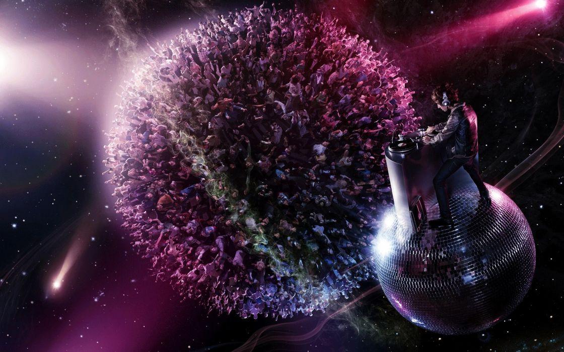 abstract music sound DJ  wallpaper