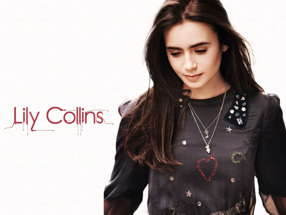 women actress Lily Collins wallpaper