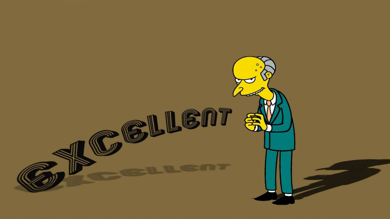 quotes shadows The Simpsons Mr_ Burns wallpaper