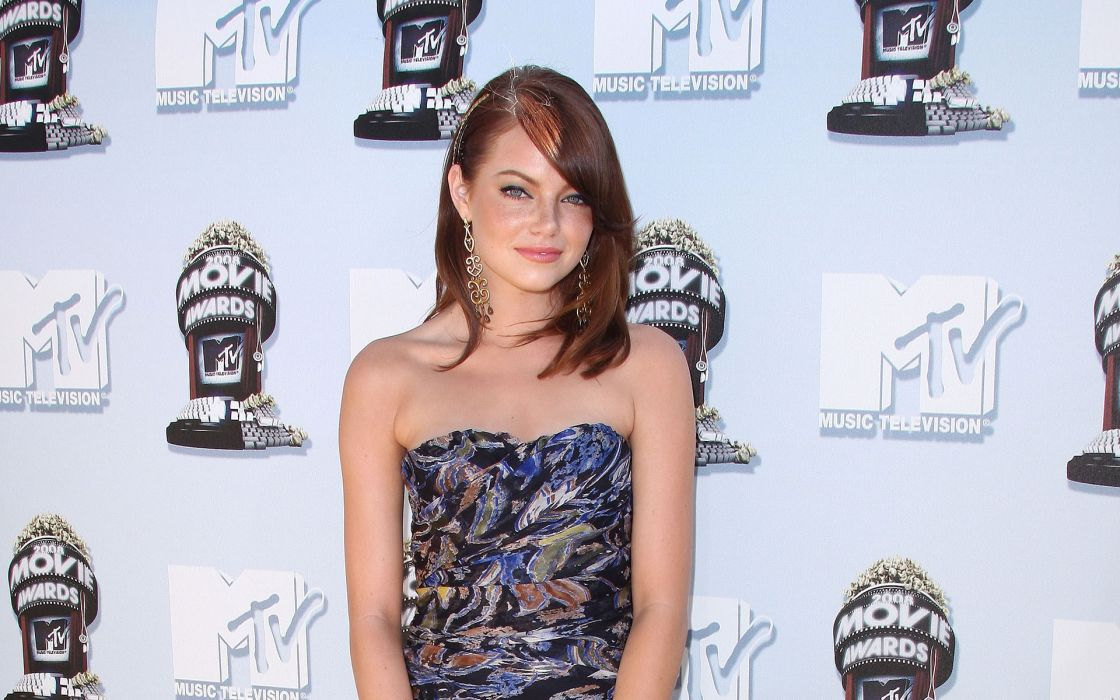 brunettes women actress celebrity Emma Stone wallpaper