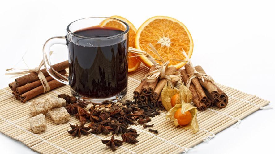 nature orange food beverages cinnamon Mulled wine wallpaper