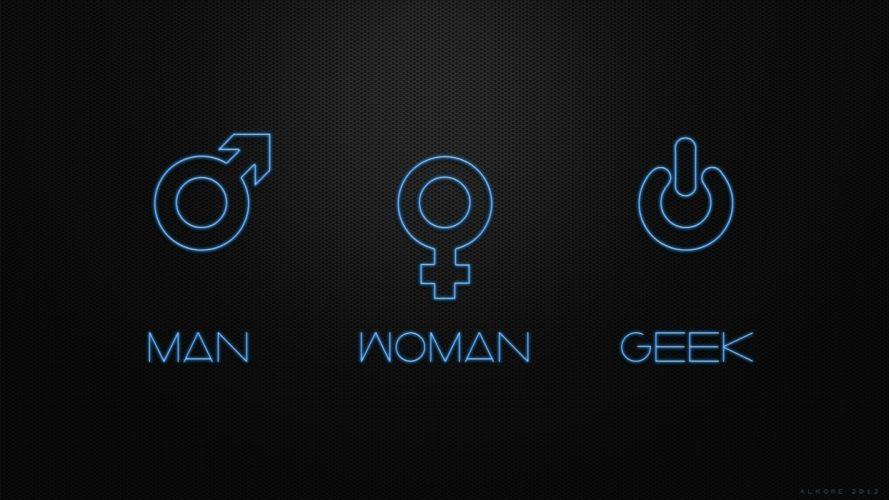 women geek men funny digital art black background wallpaper