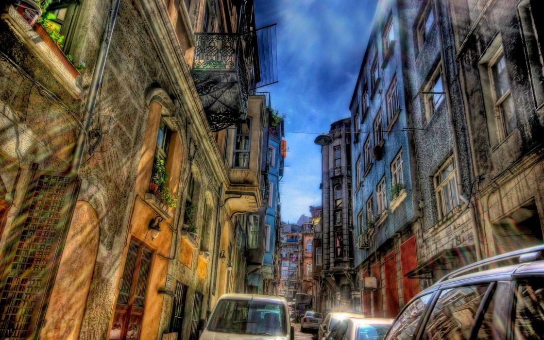 Istanbul HDR photography wallpaper