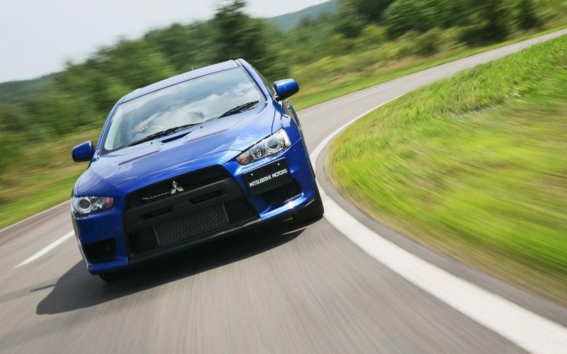 cars roads racing Mitsubishi Lancer Evolution Mitsubishi Lancer Evolution X wrc blue cars wallpaper