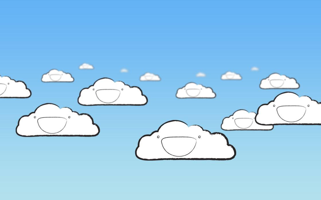 cartoons clouds wallpaper