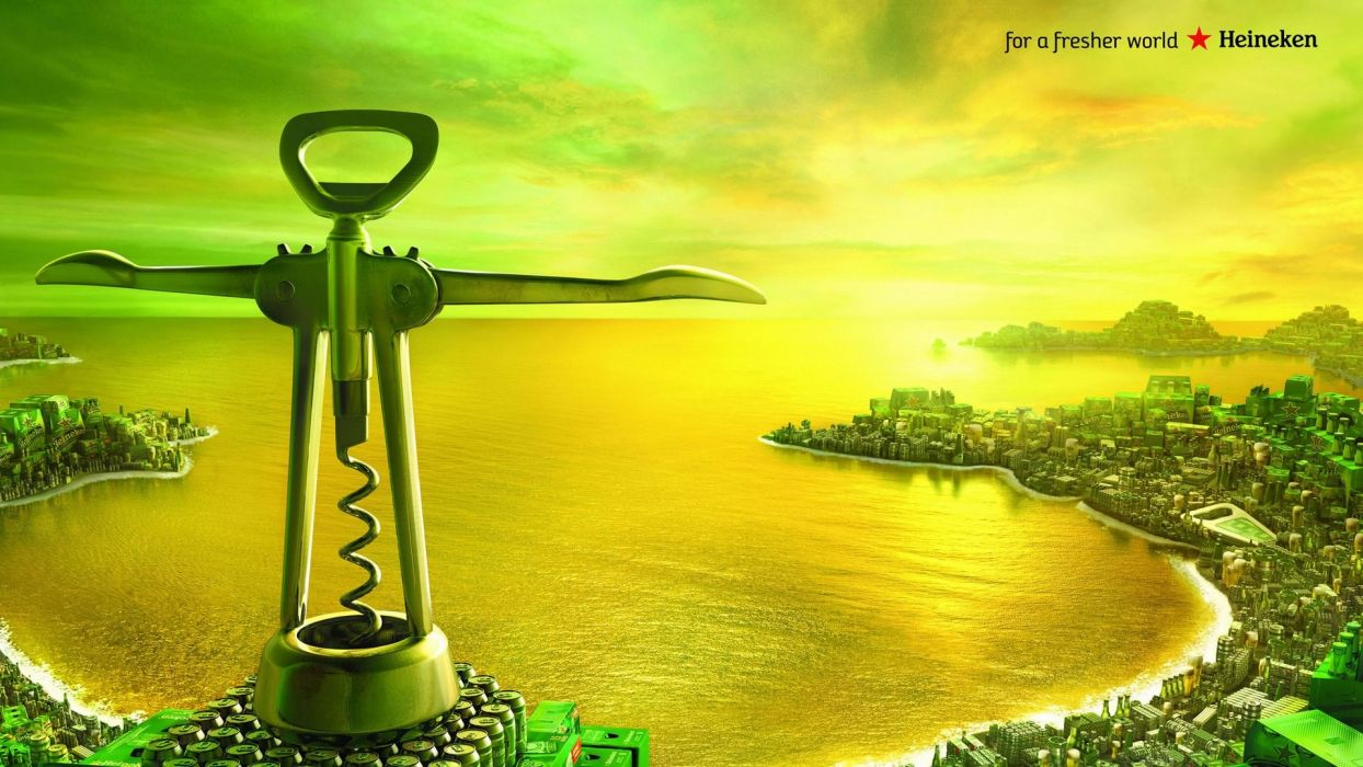 alcohol Heineken parody advertisement Rio De Janeiro Cristo Redentor Christ the Redeemer wallpaper