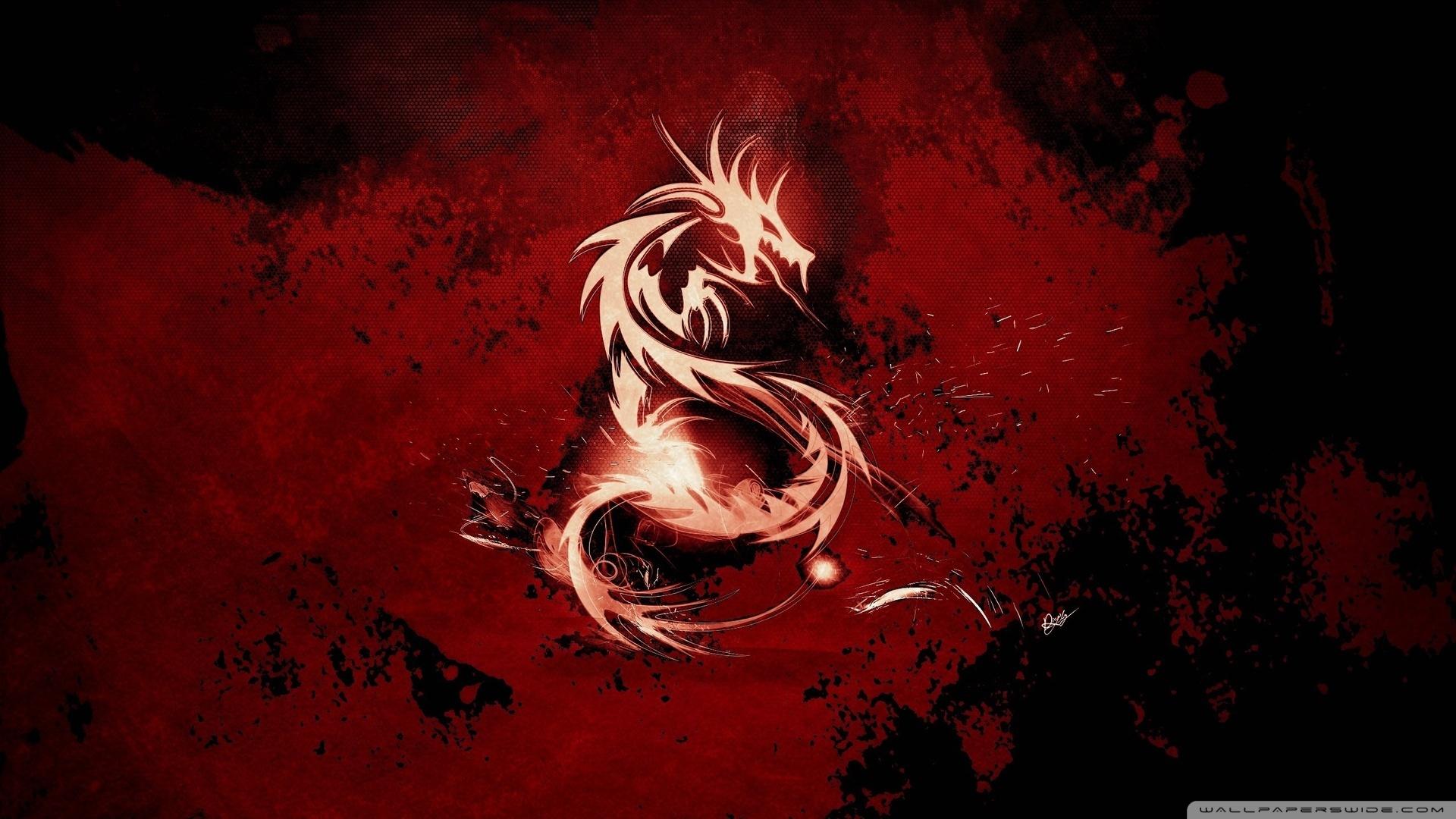 Blood Red Dragon Wallpaper 1920x1080