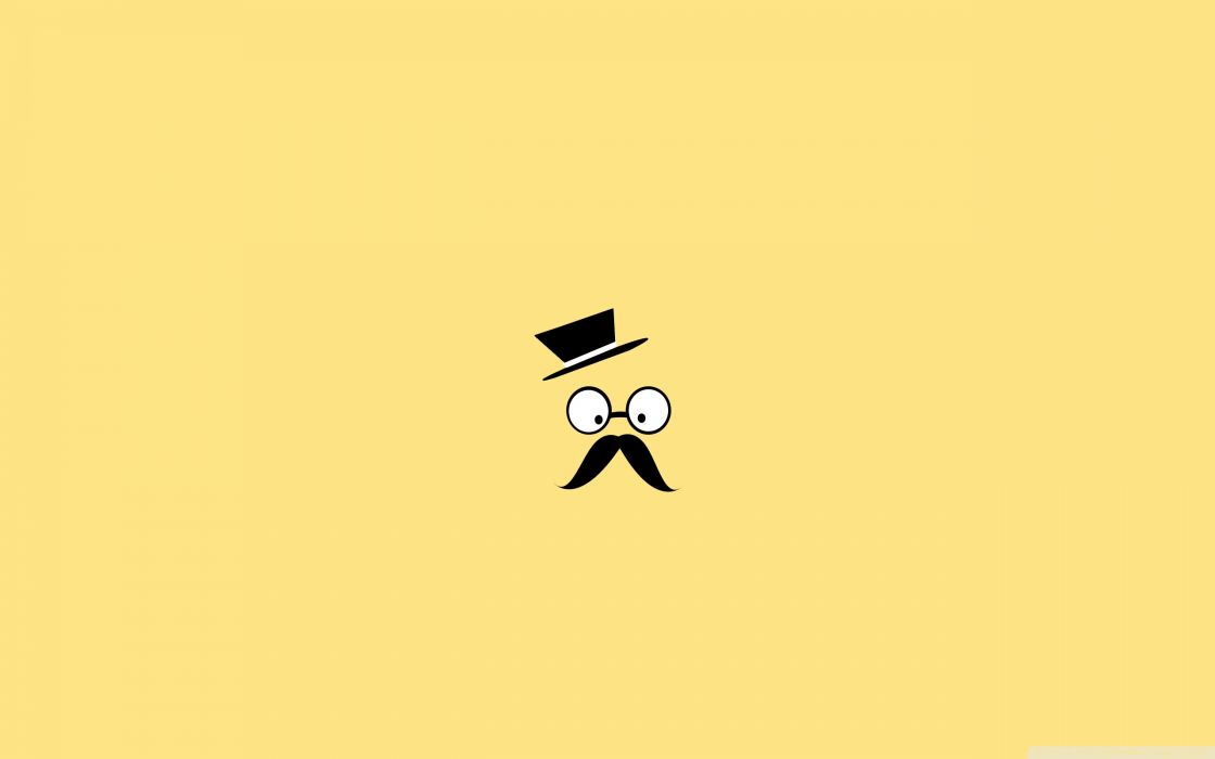 mustache man vector art-wallpaper-2560x1600 wallpaper