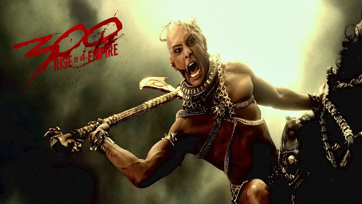 300 RISE OF AN EMPIRE action drama war fantasy warrior weapon poster   d wallpaper