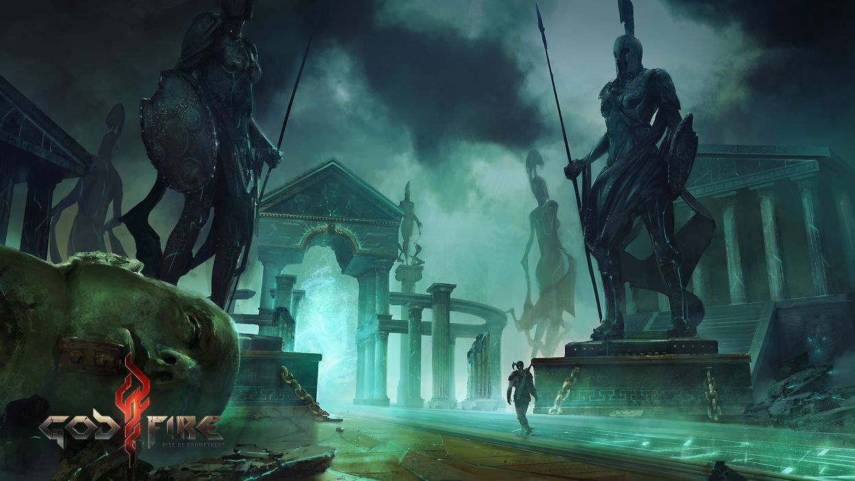 GODFIRE RISE OF PROMETHEUS fantasy sci-fi warrior    g wallpaper