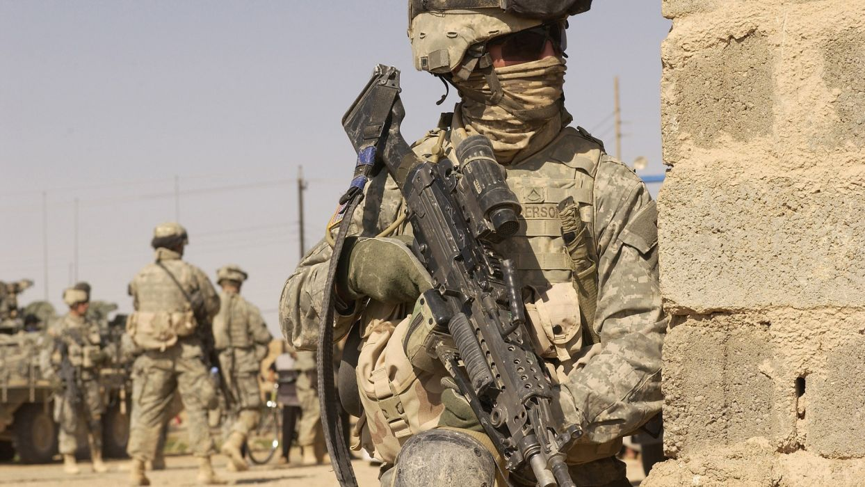 Soldiers Guns Military Afghanistan Us Army Wars Wallpaper