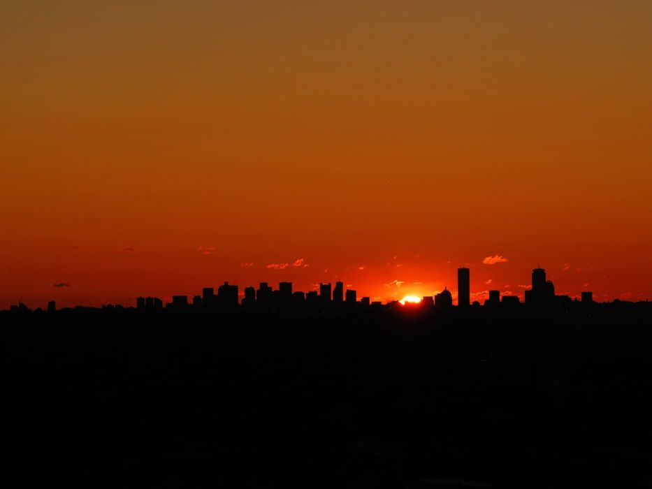 sunset cityscapes wallpaper