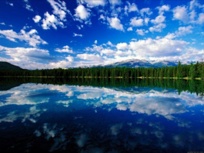 landscapes nature Canada lakes National Park Jasper National Park wallpaper