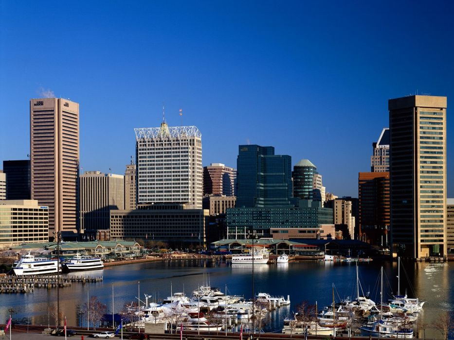 boats Baltimore cities harbours maryland wallpaper