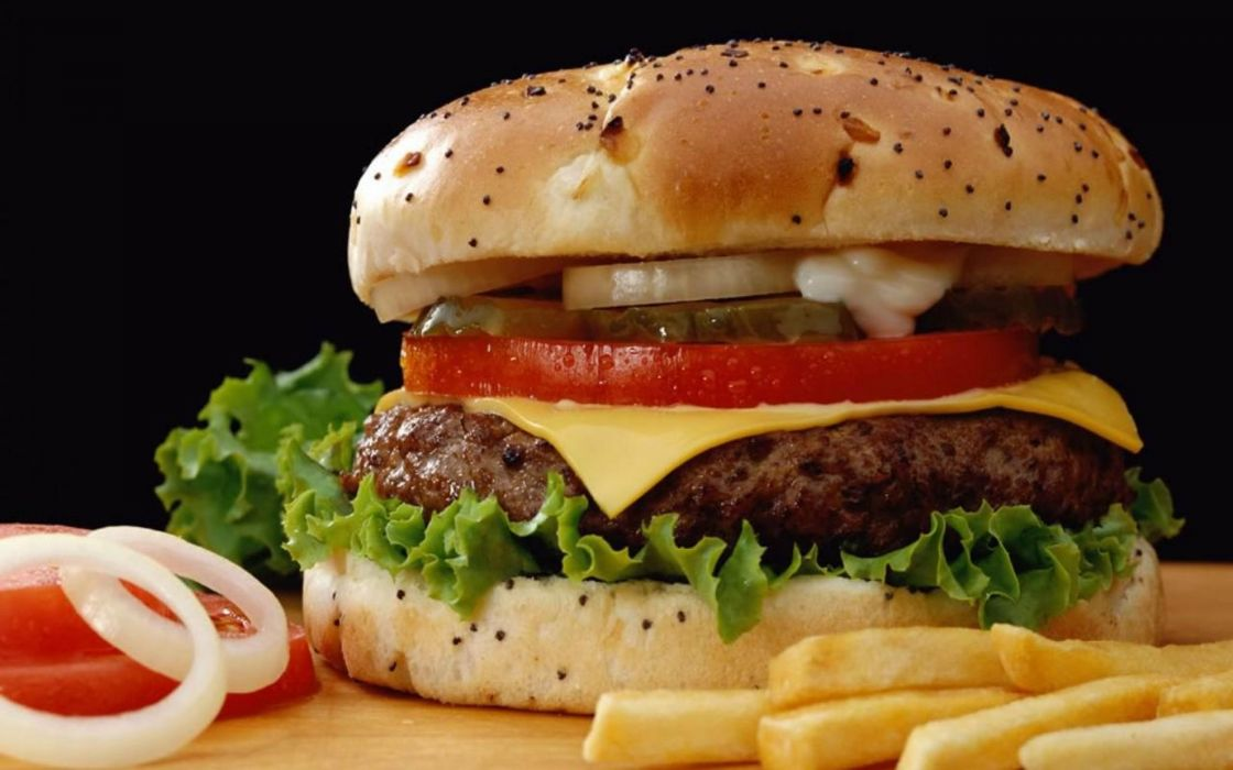 food meat bread tables tomatoes  hamburgers cheeseburgers wallpaper