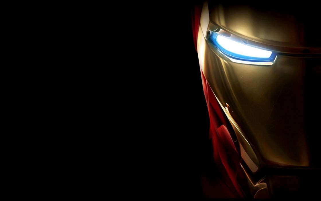 Iron Man Marvel Comics glowing eyes wallpaper