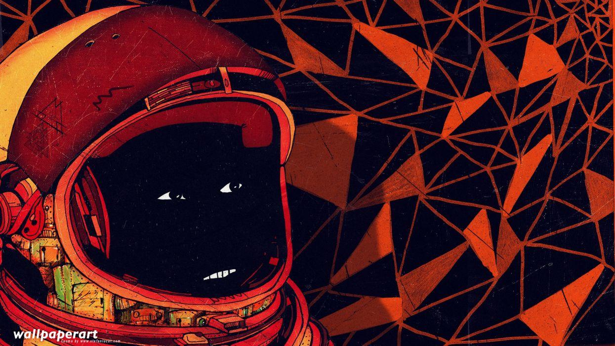 abstract cosmonaut Stefan Lucut wallpaper