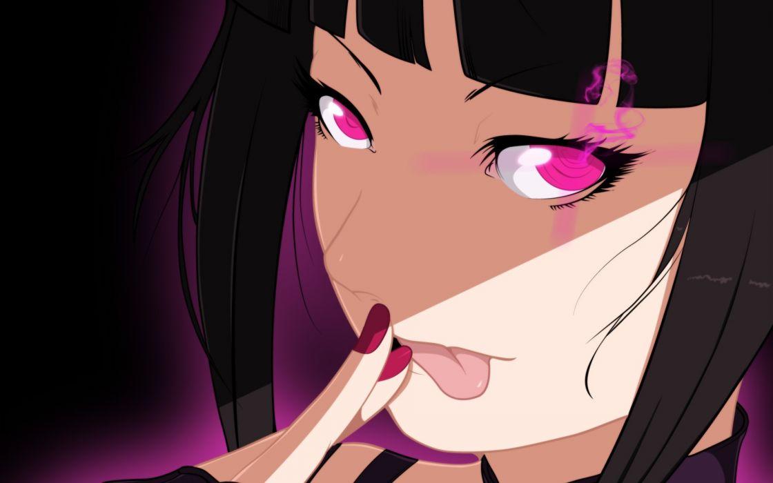 Street Fighter tongue anime purple eyes Super Street Fighter IV Arcade Edition Juri Han wallpaper