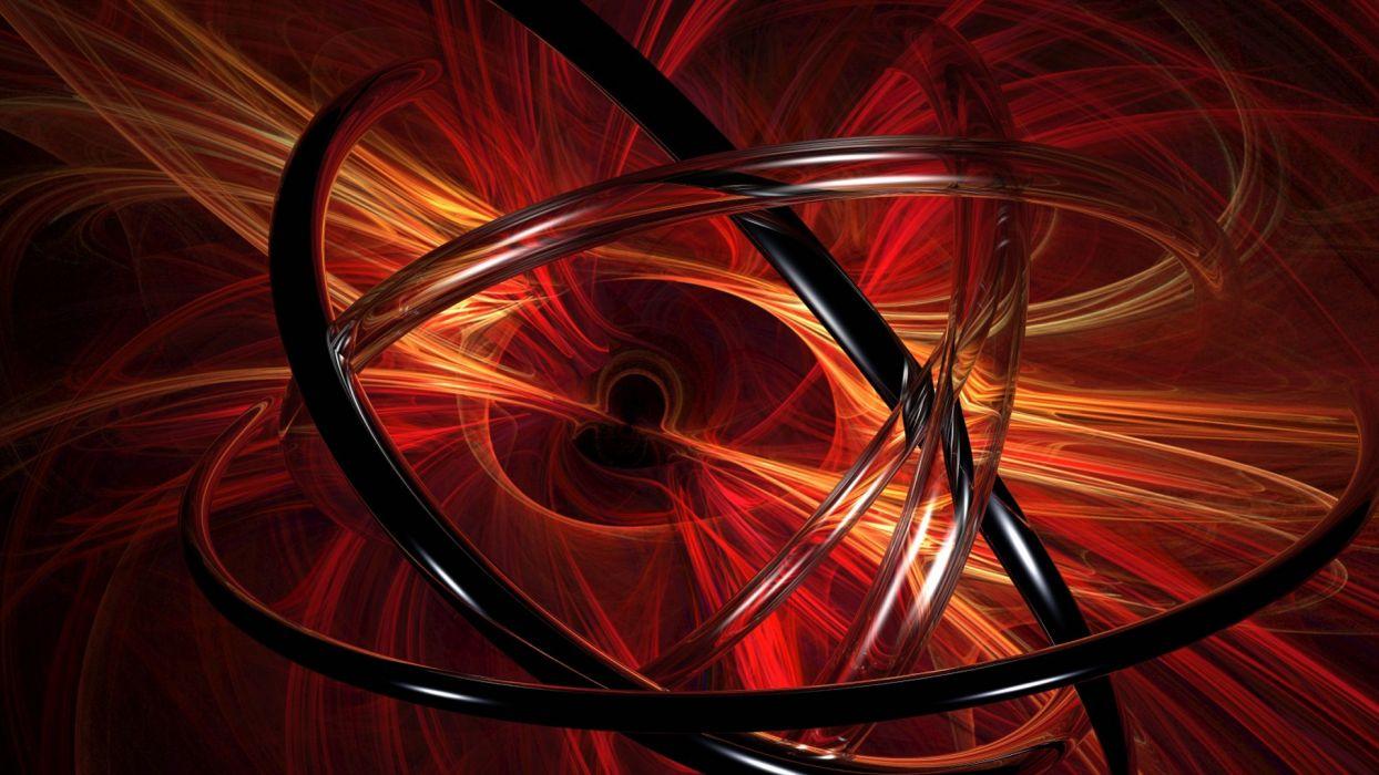 abstract red 3D renders graphics vector art wallpaper