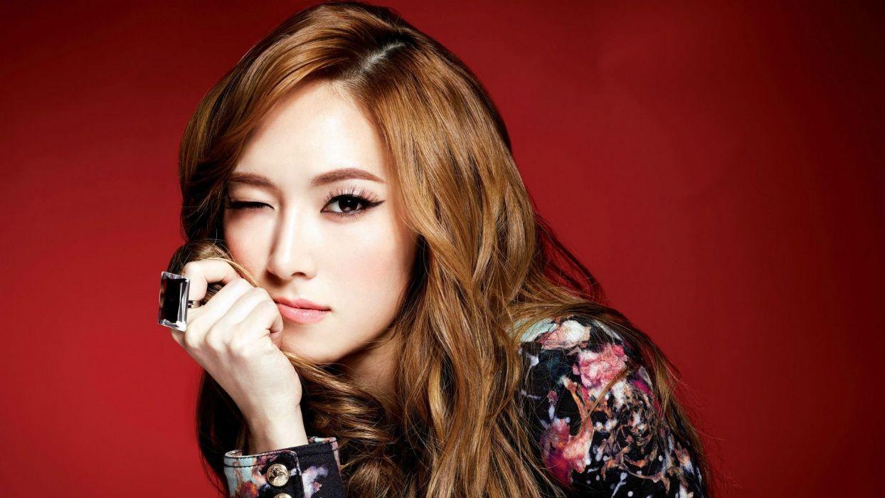 women Girls Generation SNSD Asians Jessica Jung wink faces wallpaper