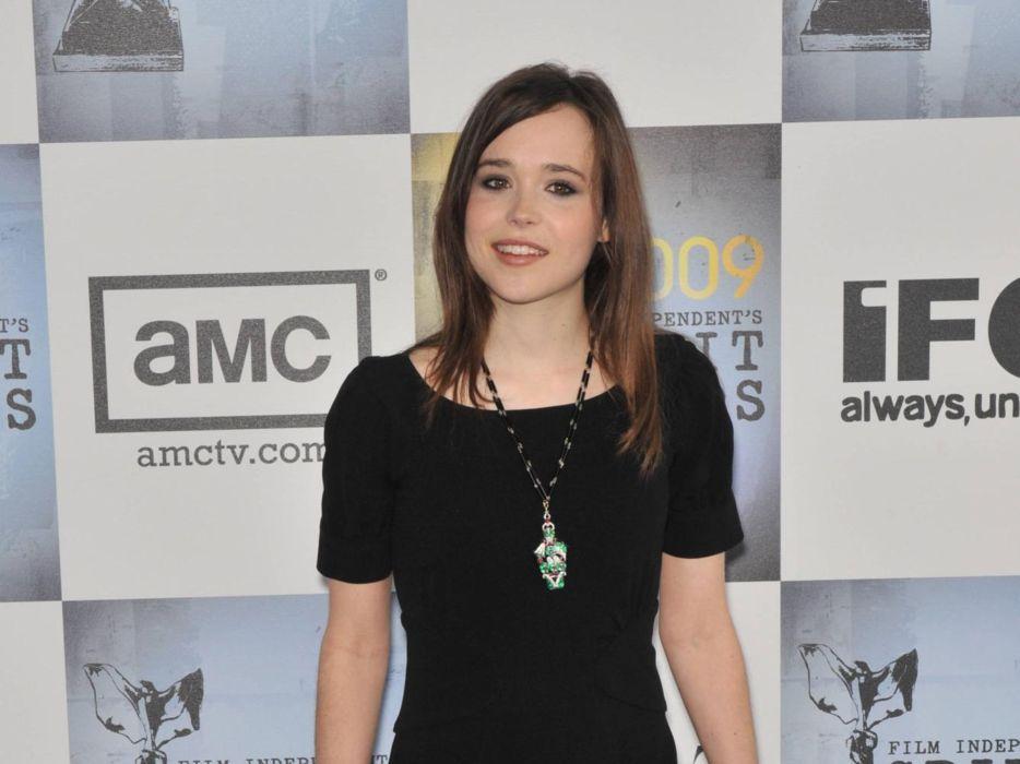 brunettes women Ellen Page celebrity wallpaper