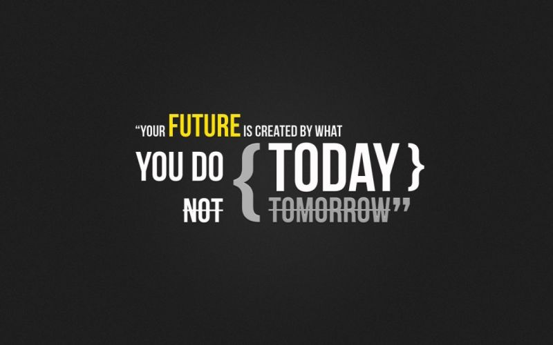 yellow futuristic text quotes typography Today textures wallpaper