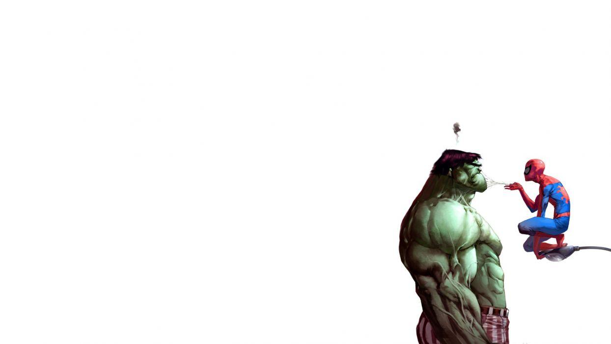 Hulk (comic character) comics Spider-Man Marvel Comics wallpaper
