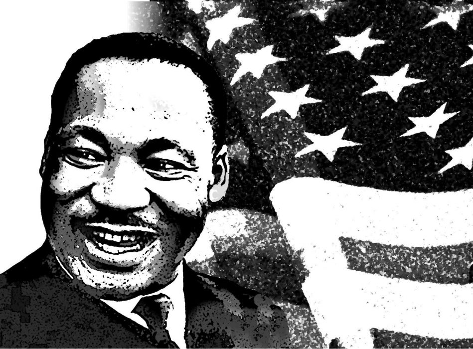MARTIN LUTHER KING JR Negro African American Civil Rights Political Poster 27 Wallpaper