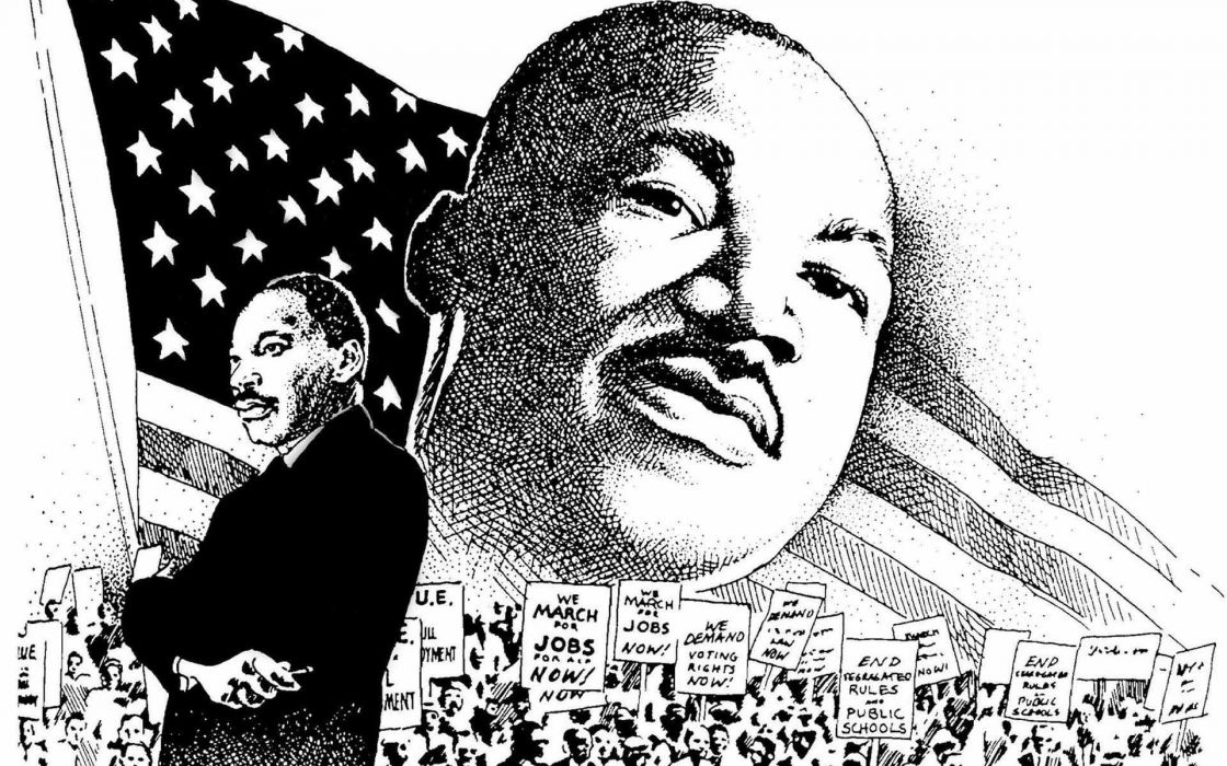 MARTIN LUTHER KING JR Negro African American Civil Rights Political Poster 36 Wallpaper