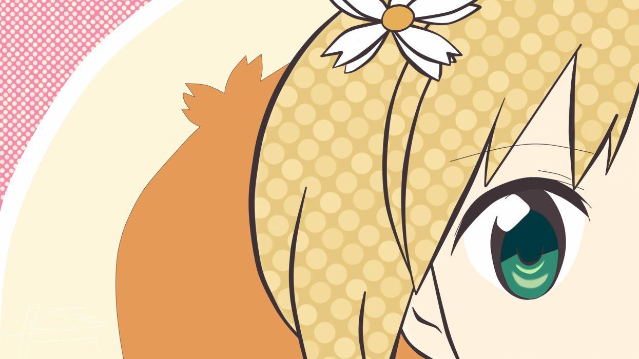 sakura trick blonde hair green eyes sakura trick signed sonoda yuu vector wallpaper
