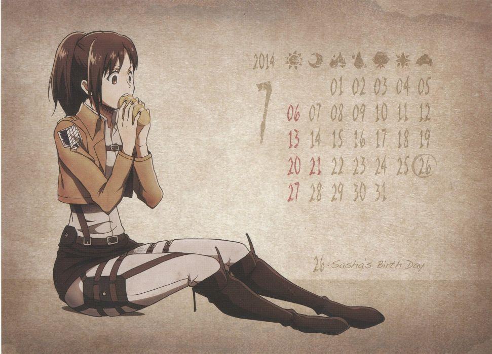 Shingeki no Kyojin Sasha Braus wallpaper
