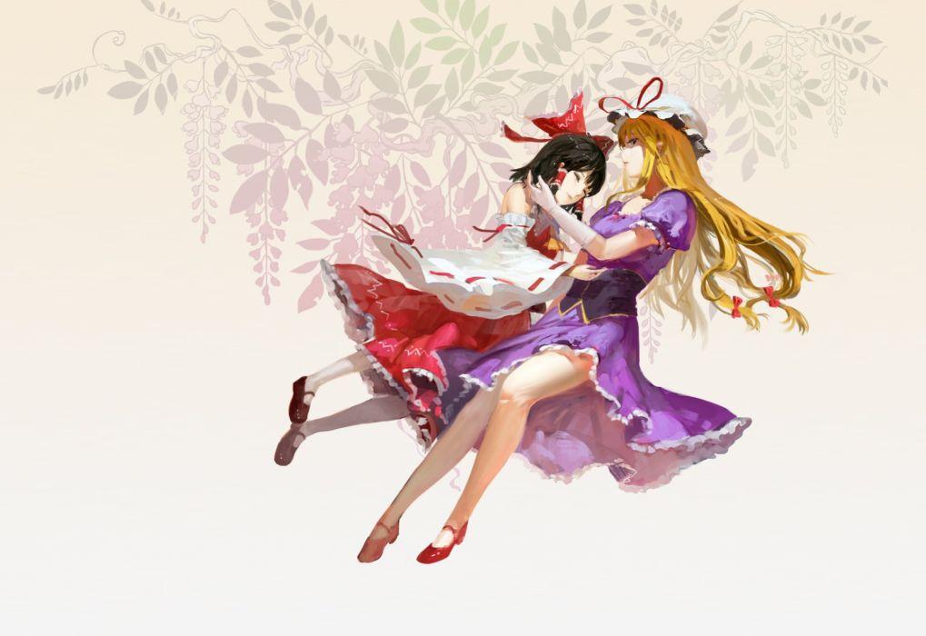 touhou girls hakurei reimu jeanex touhou yakumo yukari wallpaper