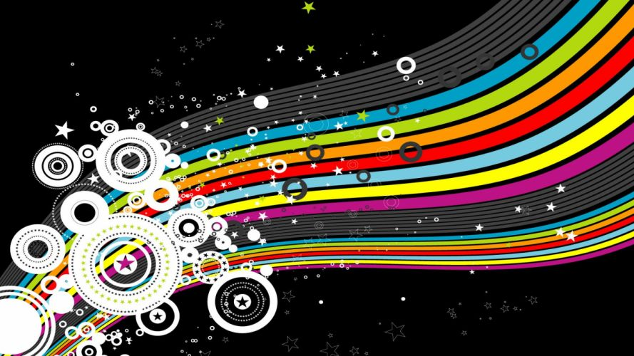 multicolor rainbows wallpaper