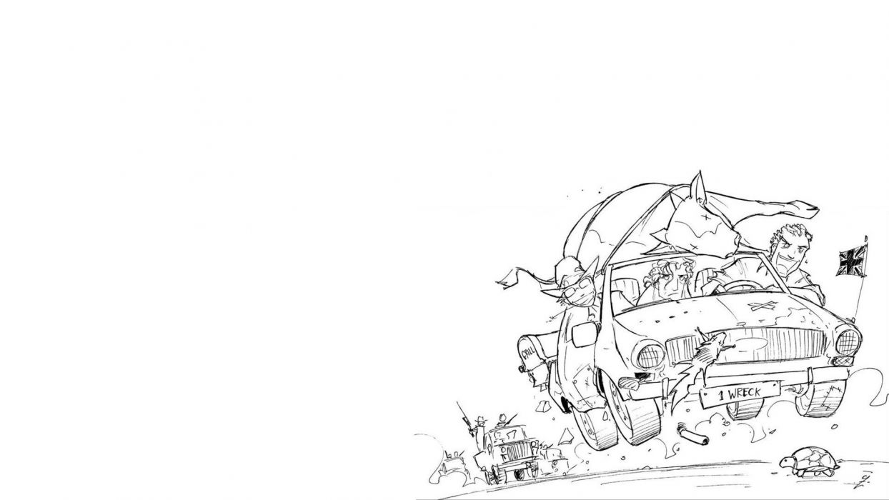 Top Gear sketches Road Trip jolly Jack wallpaper