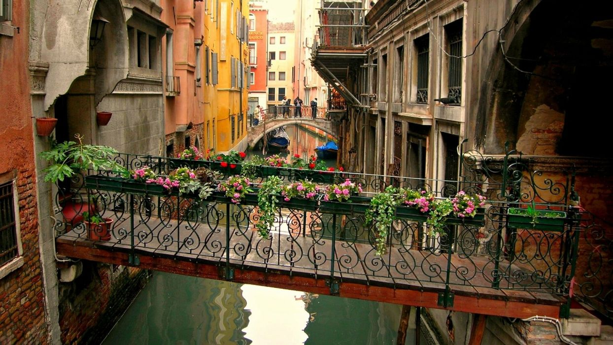 bridges Venice Italy Venetzia wallpaper