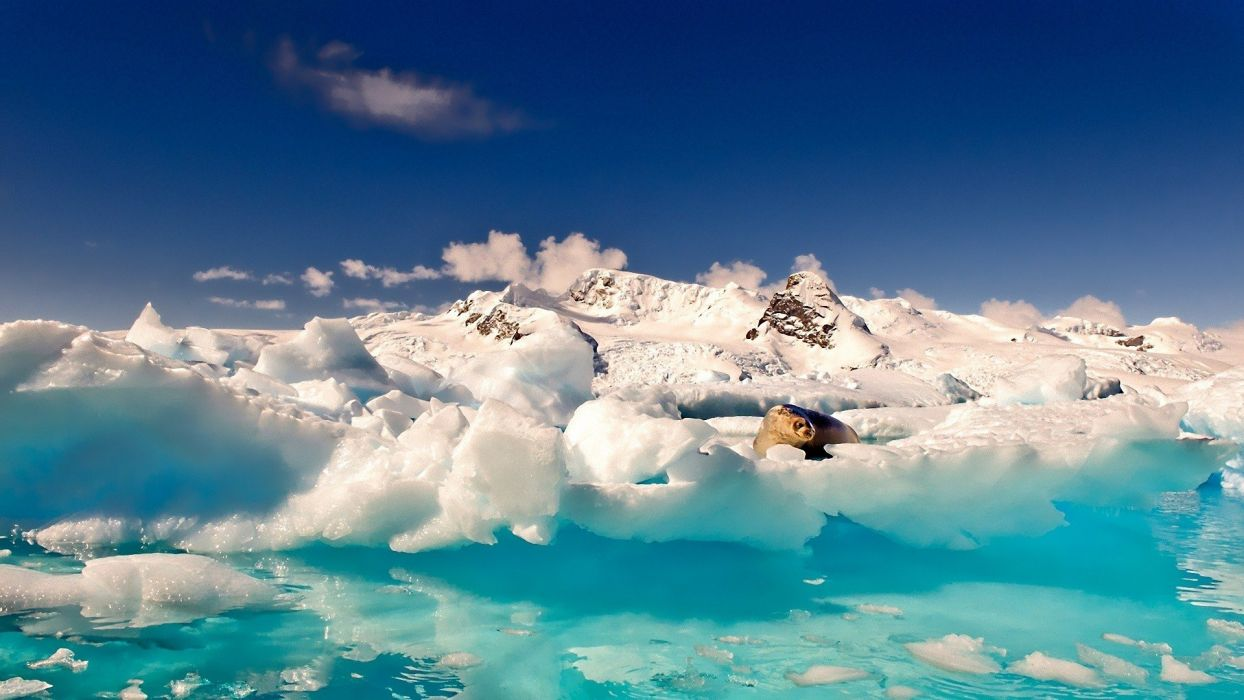ice snow artwork skyscapes wallpaper