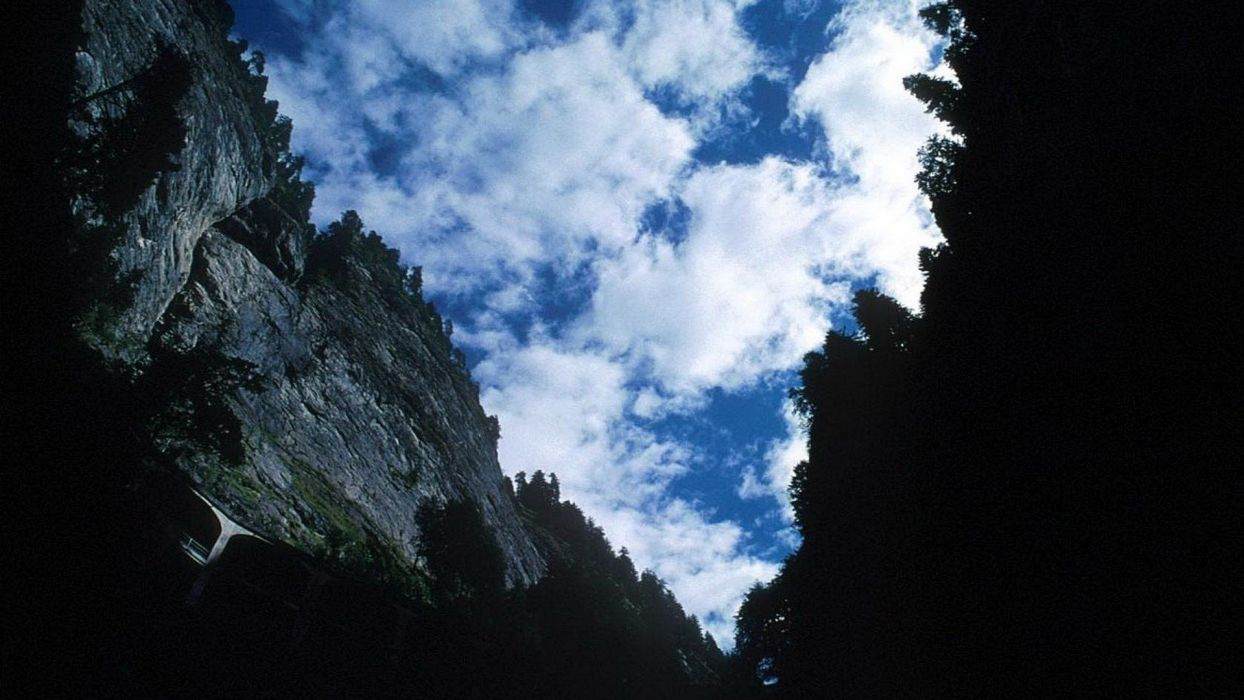 mountains clouds landscapes nature skyscapes land wallpaper