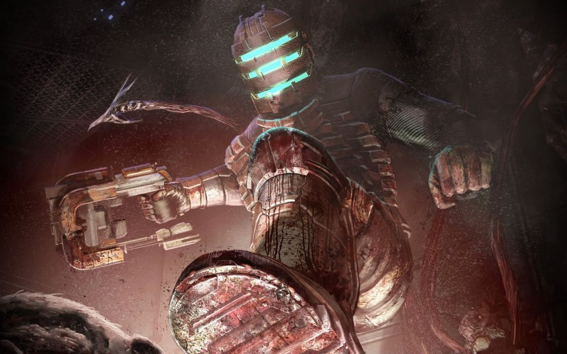 video games blood Dead Space artwork wallpaper