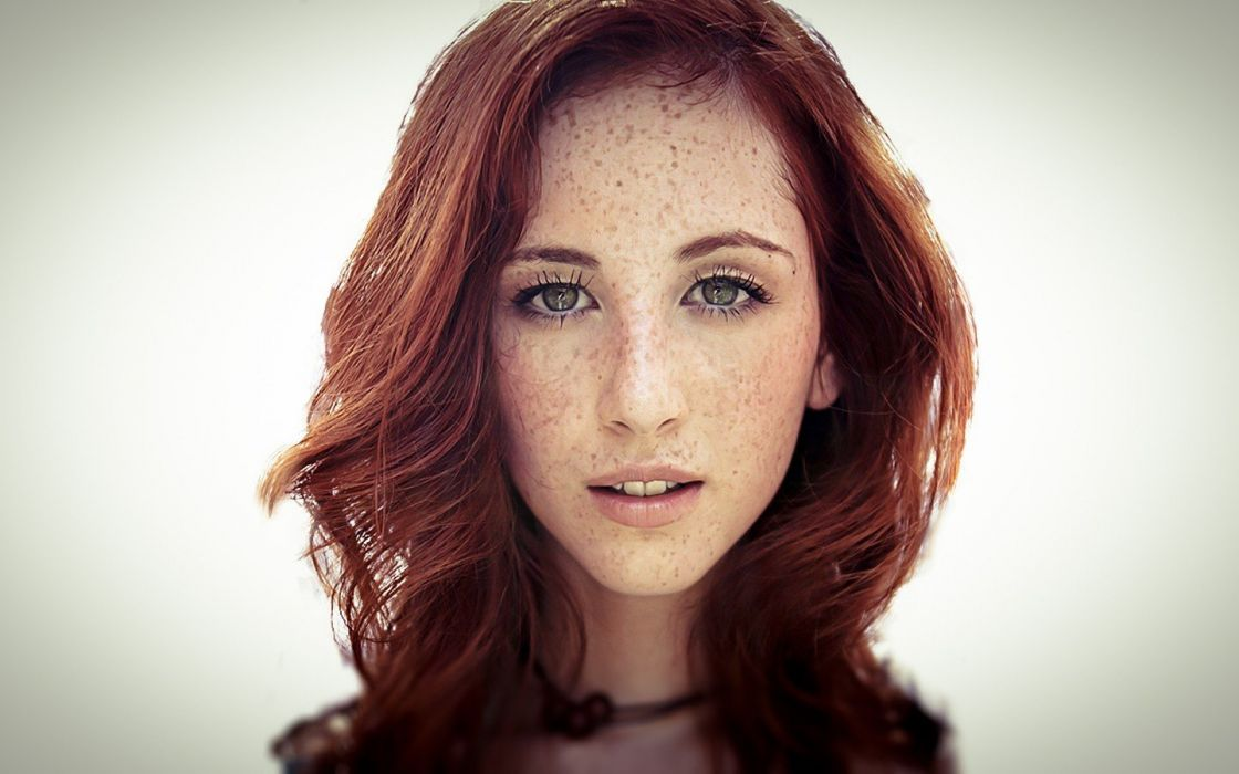 women redheads freckles faces Brittany Picozzi wallpaper