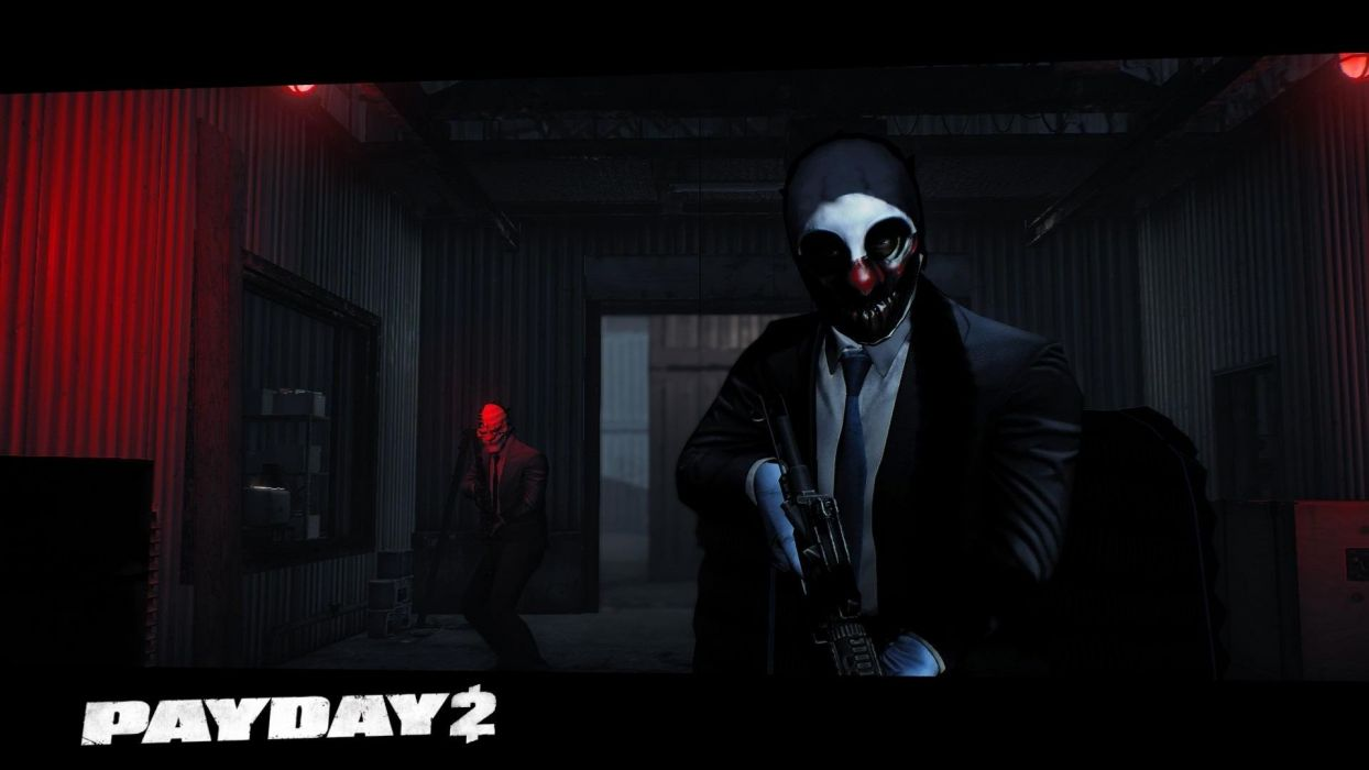 Video games guns gloves masks Dallas Overkill wolves PayDay 2