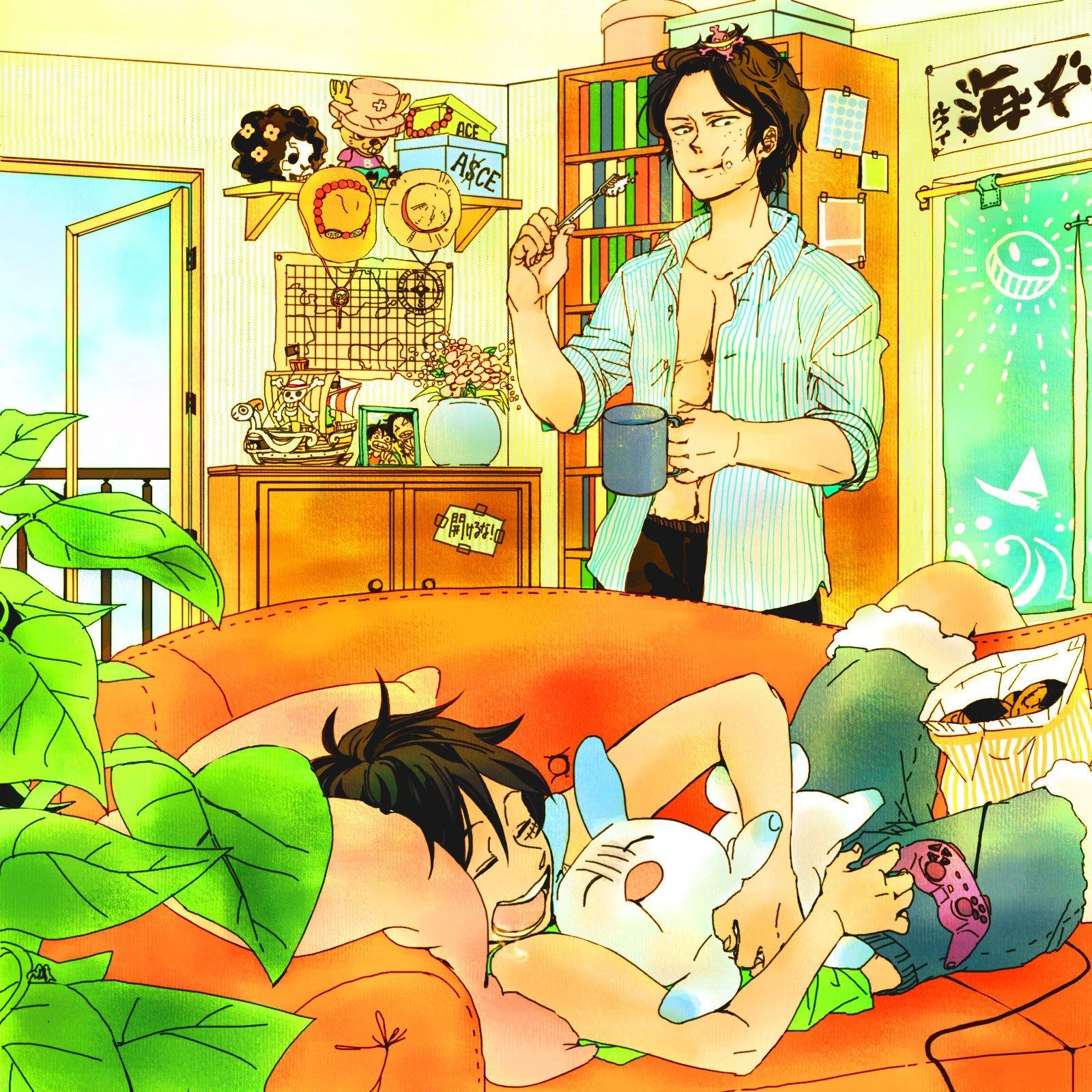 One Piece (anime) Ace Monkey D Luffy wallpaper | 1600x1600 | 233588 ...